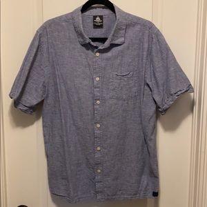 Firefly Short Sleeve Linen Cotton Blend Top - Lg